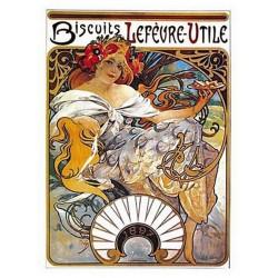 Pour votre décoration intérieure, Affiche publicitaire dim : 23x33cm : Biscuits Lefèvre Utile