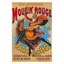 Pour votre décoration intérieure, Affiche publicitaire dim : 23x33cm : Au Joyeux Moulin Rouge
