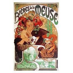 Pour votre décoration intérieure, Affiche publicitaire dim : 23x33cm Bière de la Meuse