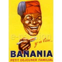Affiche publicitaire marge blanche dim : 24x30cm Banania cuillière