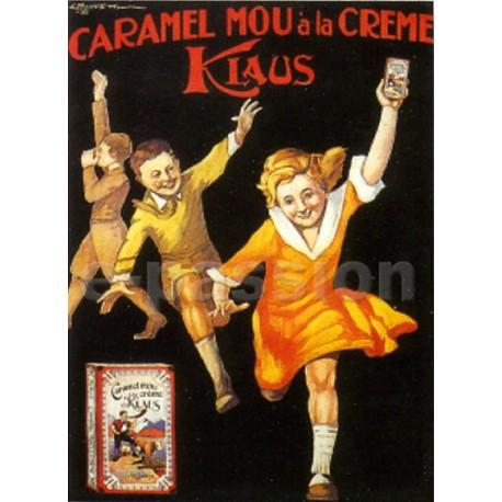 Affiche publicitaire marge blanche dim : 24x30cm Caramel Klaus