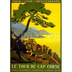 Affiche publicitaire marge blanche dim : 24x30cm Tour du Cap Corse