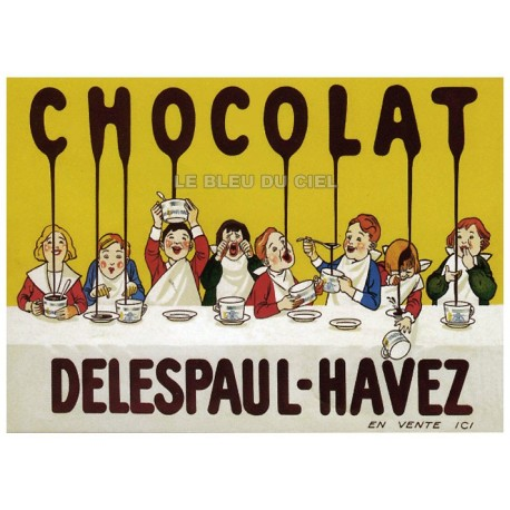 Affiche publicitaire marge blanche dim : 24x30cm Delespaul Havez