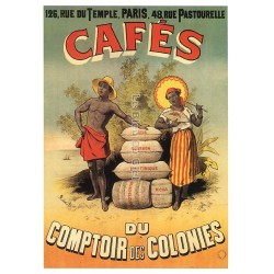 Affiche publicitaire dim : 23x33cm Café des Colonies
