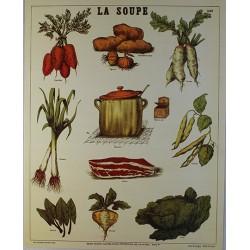 Affiche publicitaire dim : 24x30cm La Soupe