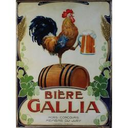 Affiche publicitaire dim : 24x32cm Bière Gallia