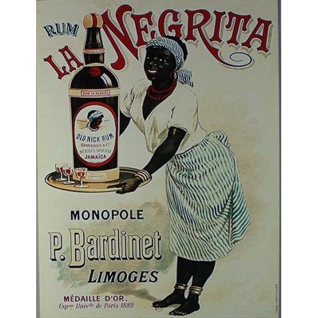 Affiche publicitaire dim : 24x32cm Rhum La Negrita