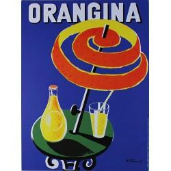 Affiche publicitaire dim : 24x32cm Orangina