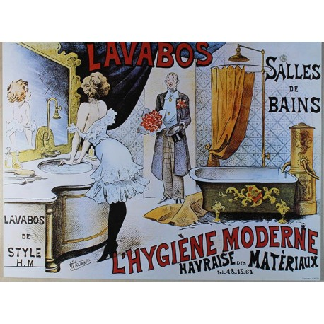 Affiche publicitaire dim : 24x32cm Lavabos de Style