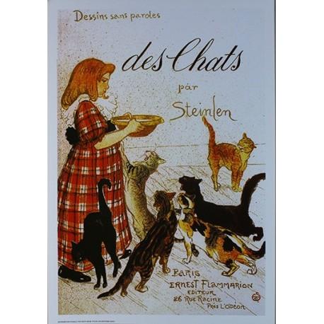 Affiche publicitaire dim : 23x33cm Des Chats par Steinle