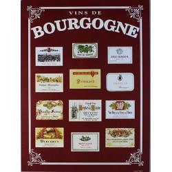 Affiche publicitaire dim : 24x32cm Vins de Bourgogne