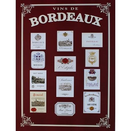 Affiche publicitaire dim : 24x32cm Vins de Bordeaux