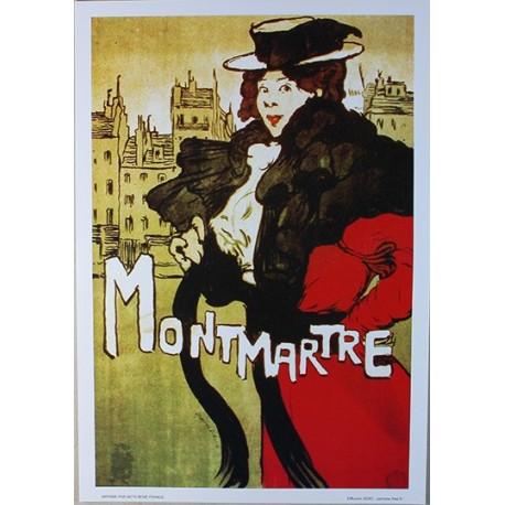 Affiche publicitaire dim : 23x33cm marge blanche Montmartre.