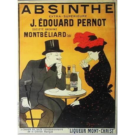 Affiche publicitaire dim : 24x32cm Absinthe Pernot