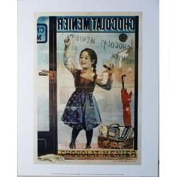 Affiche publicitaire marge blanche dim : 24x30cm Chocolat Menier