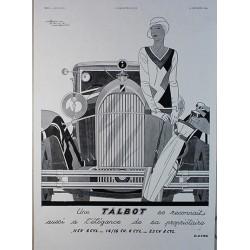 Affiche publicitaire N&B l'illustration dim : 26x36cm Talbot