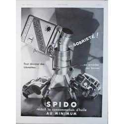 Affiche publicitaire N&B l'illustration dim : 26x36cm Huile SPIDO