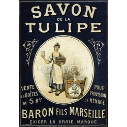 Affiche publicitaire dim : 24x32cm Savon La Tulipe