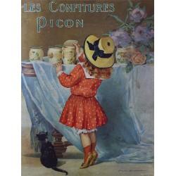 Affiche publicitaire dim : 24x32cm Confitures Picon