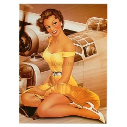 Poster 30x40cm sur papier photo mat  200 gr/m2 : Pin up Bombardier