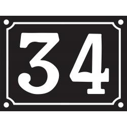 Numéro de Rue émaillé 15 x 20 cm.