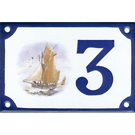 Numéro de rue émaillé 10 x 15 cm : Thonnier