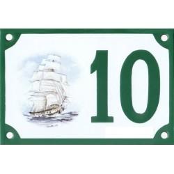 Numéro de rue émaillé 10 x 15 cm : Brick