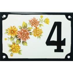 Numéro de rue émaillé 10 x 15 cm : Fleurs des champs