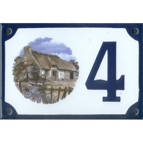 Numéro de rue émaillé 10 x 15 cm : Douce Bretagne