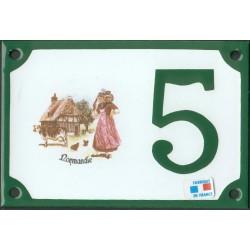 Numéro de rue émaillé 10 x 15 cm : Normandie.