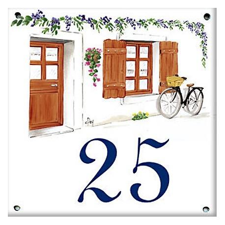 plaque maill e 15 x 15 cm d cors facade de maison plaque de rue. Black Bedroom Furniture Sets. Home Design Ideas