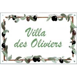 Plaque émaillée 20 x 30 cm : Décor Olives
