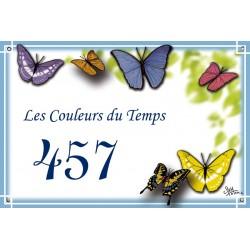 Plaque émaillée 20 x 30 cm : Décor Papillons