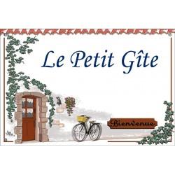 Plaque émaillée 30 x 45 cm : Décor Le Petit Gite
