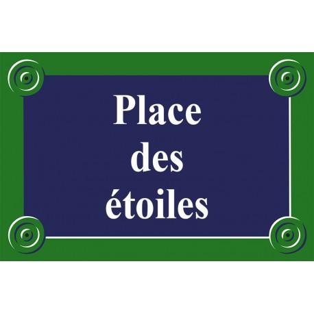 Plaque de rue émaillée Paris 20 x 30 cm sans fronton.