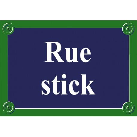 Plaque de rue émaillée Paris 50 x 35 cm sans fronton.