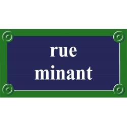 Plaque de rue émaillée Paris 65 x 35 cm sans fronton.
