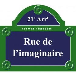 Plaque de rue émaillée Paris 15 x 13 cm avec fronton.