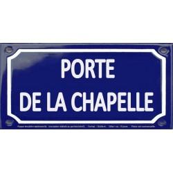 Plaque de rue émaillée 12x24cm : Station métro PORTE DE LA CHAPELLE