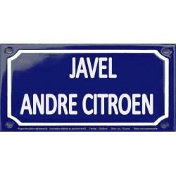 Plaque de rue émaillée 12x24cm : Station métro ANDRE CITROËN
