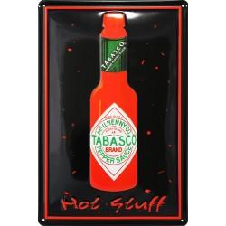 Plaque métal publicitaire 20x30cm bombée en relief : TABASCO