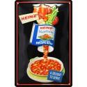 Plaque métal publicitaire 20x30cm bombée et en relief : HEINZ
