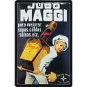 Plaque métal publicitaire 20x30cm bombée en relief : Jugo MAGGI