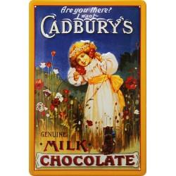 plaque métal 20x30cm, relief cadbury's Chocolat