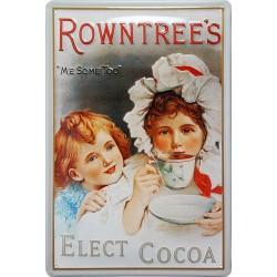 Plaque métal publicitaire 20x30cm bombée en relief :   ROWNTREE'S