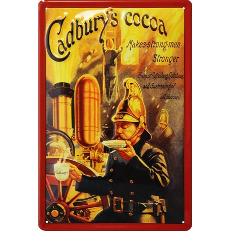 plaque publicitaire métal plate Cadbury's cocoa