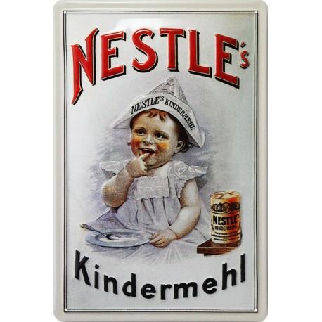 plaque métal bombée en relief Nestlé 20.30c