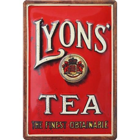 Pour votre Décoration : cette plaque publicitaire 20x30 cm bombée en relief  LYONS TEA