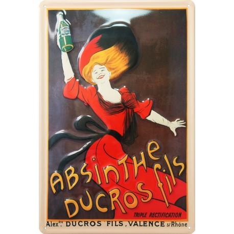 m15791 plaque métal plate absinthe Ducros Fil