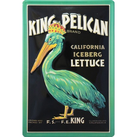 plaque publicitaire  King Pélican